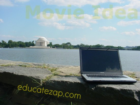 Creating a Film Idea by Laptop along the Potomac River