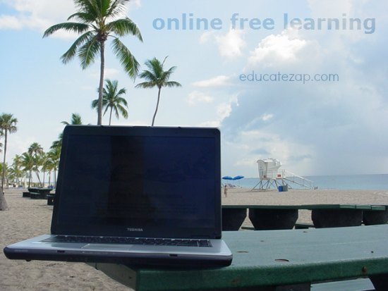 Online Free Learning at the beach.