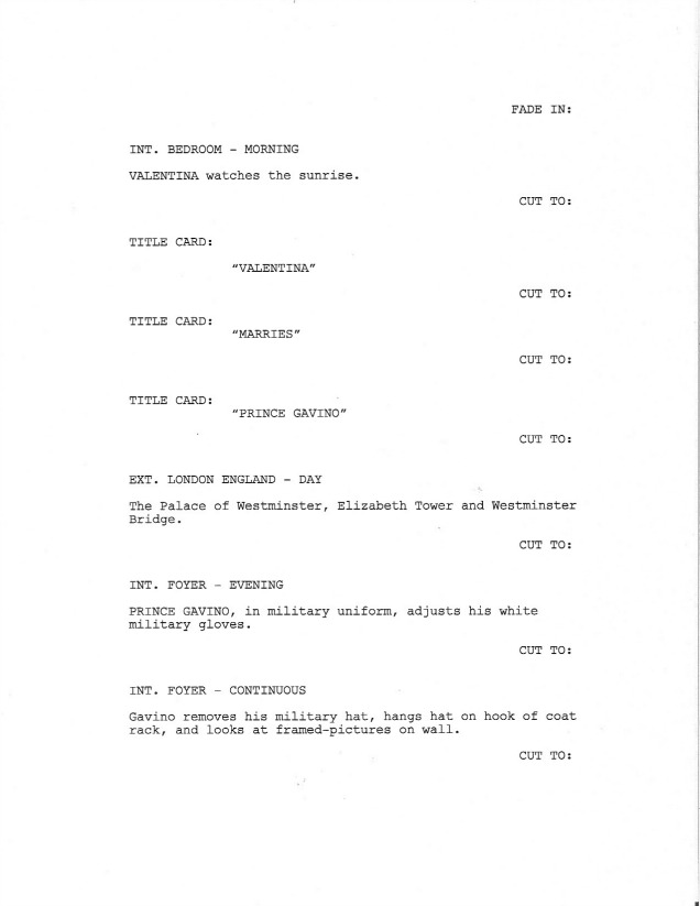 Sample Screenplay - Page 1