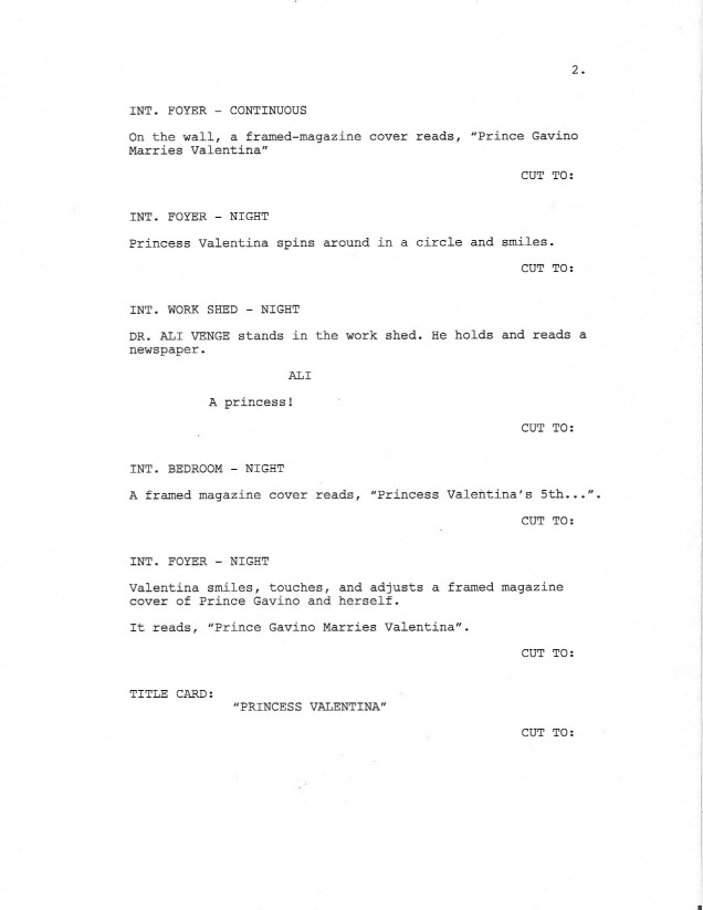 Sample Screenplay Page 2