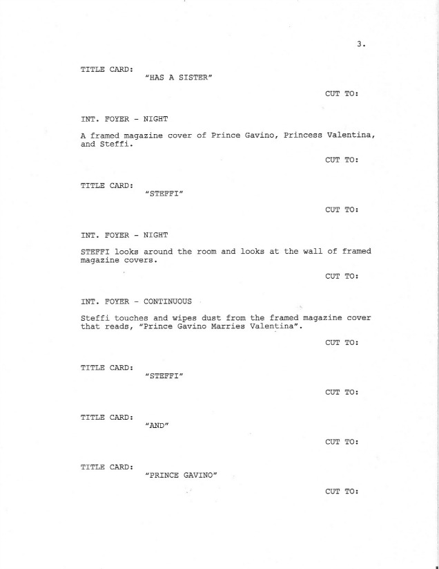 Sample Screenplay Page 3