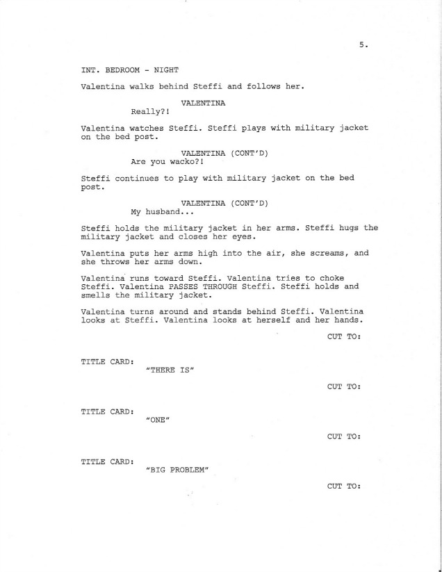 Sample Screenplay Page 5