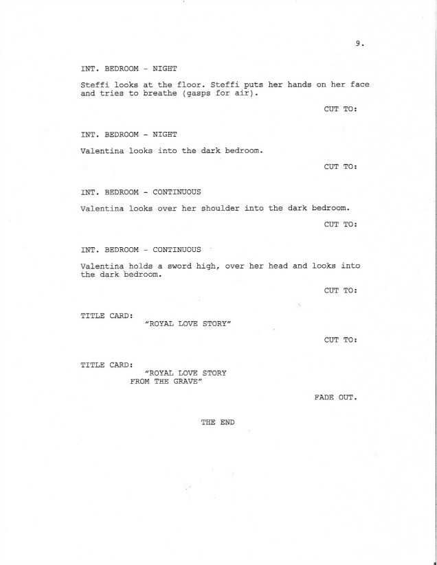 Sample Screenplay Page 9