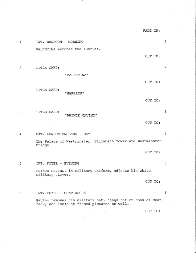 Sample Shooting Script - Page 1