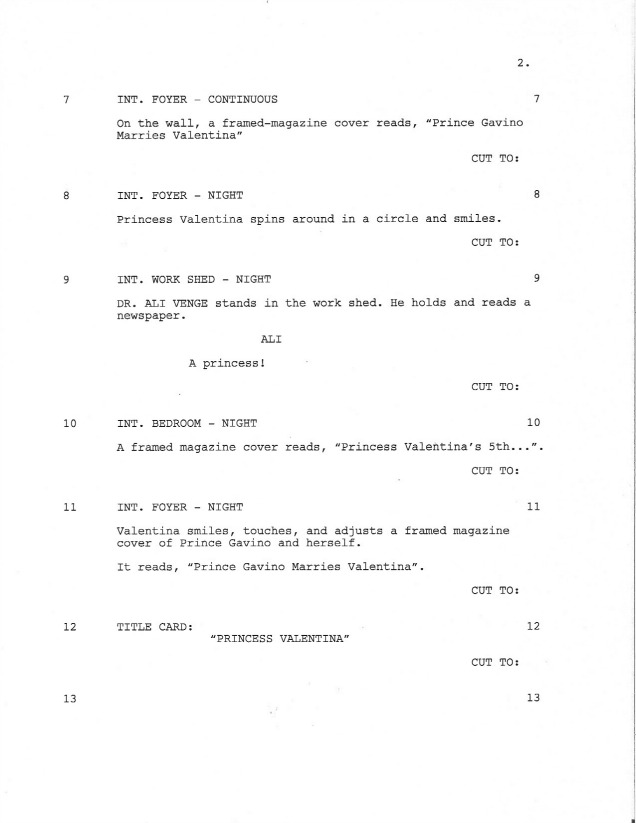 Sample Shooting Script Page 2