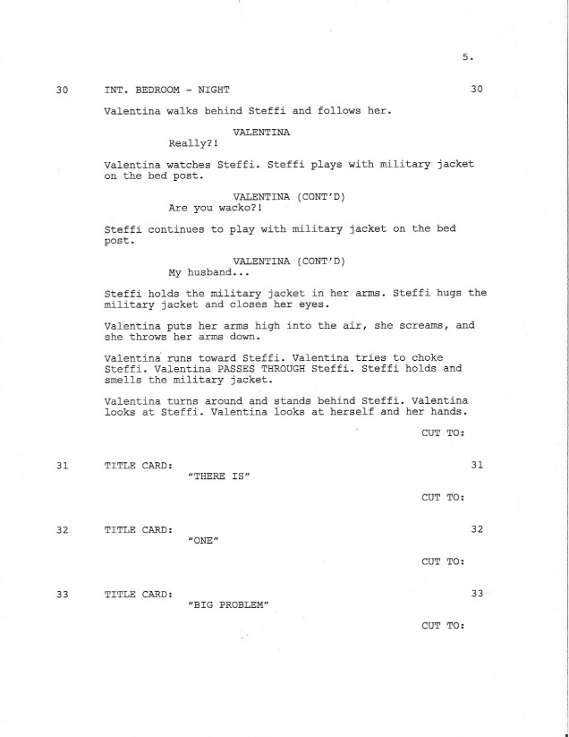 Sample Shooting Script Page 5