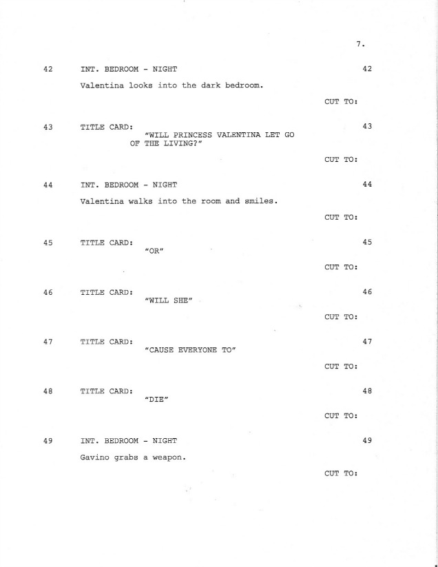 Sample Shooting Script Page 7