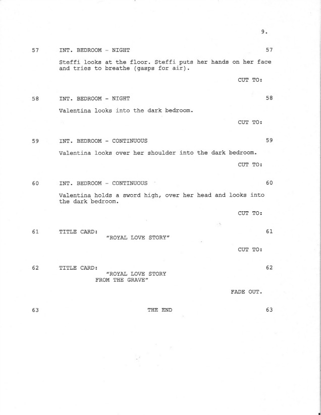 Sample Shooting Script Page 9