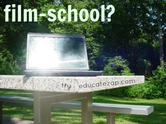 Trying EducateZap by laptop while taking a break at a North Carolina park.